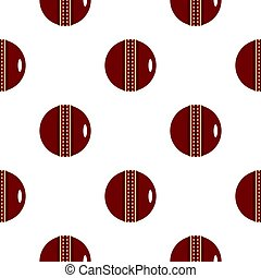 Red leather cricket ball pattern flat - Red leather cricket...