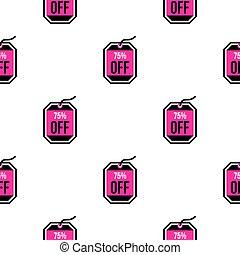 Sale tag 75 percent off pattern flat - Sale tag 75 percent...