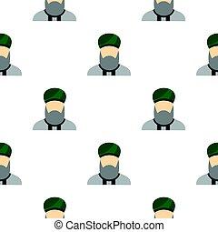 Islamic priest pattern flat