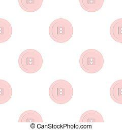White sewing button pattern flat - White sewing button...