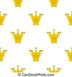 Princess crown pattern flat