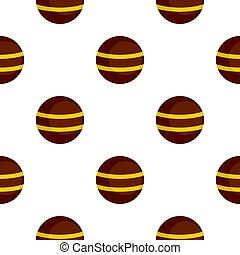 Brown with yellow stripes pattern flat - Brown with yellow...