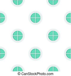 White round window pattern flat - White round window pattern...