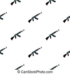 Submachine gun pattern flat - Submachine gun pattern...