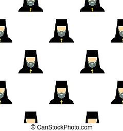 Orthodox priest pattern flat