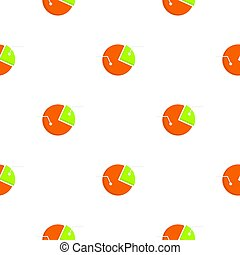 Colorful pie graphic chart pattern flat