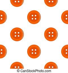 Orange sewing button pattern flat - Orange sewing button...