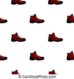 Hiking boot pattern flat