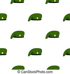 Military cap pattern flat