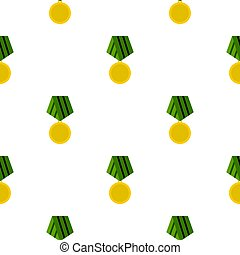 Military medal pattern flat - Military medal pattern...