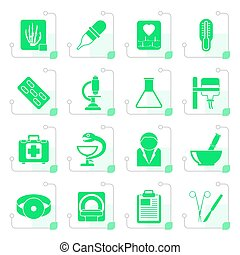 Stylized Healthcare and Medicine icons