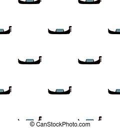 Gondola pattern flat - Gondola pattern seamless flat style...
