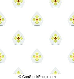 Catholic hat pattern flat - Catholic hat pattern seamless...