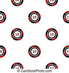 Casino chip pattern flat - Casino chip pattern seamless flat...