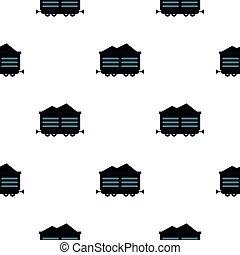 Train waggon with coal pattern flat - Train waggon with coal...