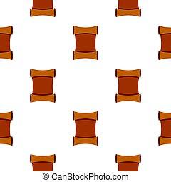 Scroll pattern flat