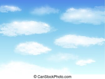 blue sky with white cloud background vector