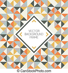 Background of geometric triangle shapes pattern with frame