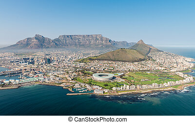 Cape Town (aerial view from a helicopter) - Cape Town, South...