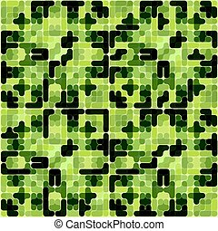 Abstract Vector Military Camouflage pattern Background