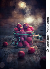 Radishes in the jar