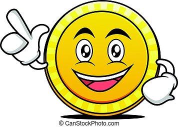 Have an idea coin cartoon character