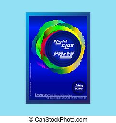 Night club party poster - Brochure template. Night club...