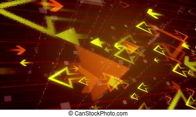 Abstract Background with orange and yellow arrows. Seamless...