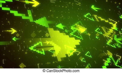 Pixel Art. Abstract Pixelated Arrows background. - Abstract...