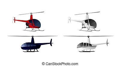 Four helicopters set
