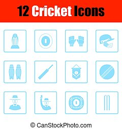 Cricket icon set