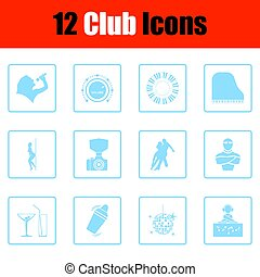 Club icon set