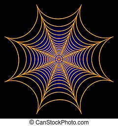 Spider web cobweb background. Vector illustration. - Spider...