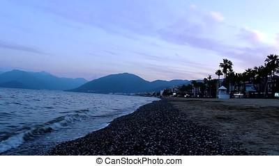 Sunset on Marmaris beach