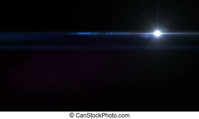 Digital camera lens flare rapidly flashes in black...