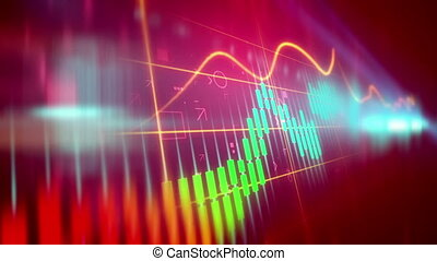"""Stock Market Candle sticks with positive trends"" -..."