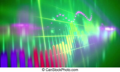 Stock Business concept background. - Colorful Positive trend...