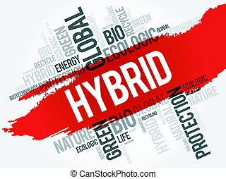 Hybrid word cloud, conceptual ecology background