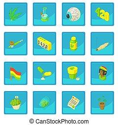 blauwe,  App,  rastafarian, pictogram
