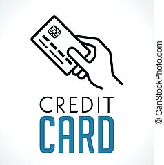 Logo - Credit card in hand