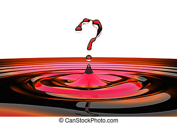 FAQ concept. Symbol shaped water drops