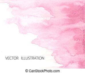 Hand drawn ombre texture. Watercolor painted light blue...