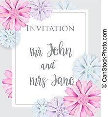 Stylish elegant wedding invitation card.