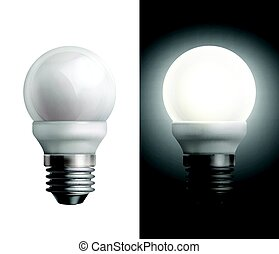 Energy saving lamps - Vector illustration with turned off...