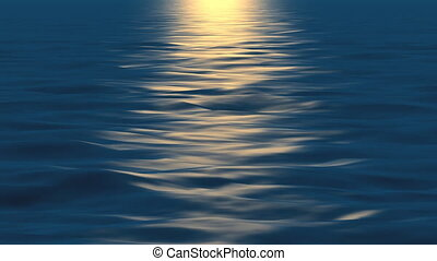 Water sunset - Perfeclty looped, high quality realistic...