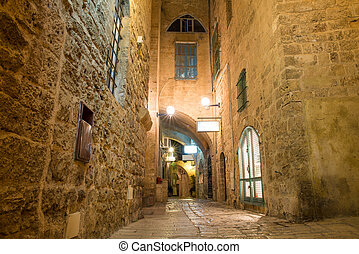old city Jaffa - stone old city Jaffa in Tel Aviv