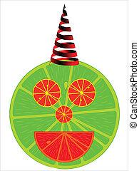 lemonade man, abstract art illustration