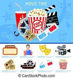 Cinema and Movie time concept