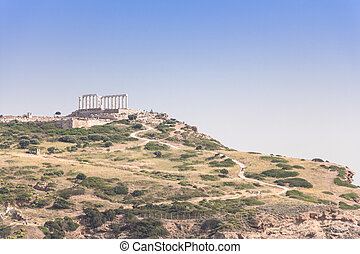 Cape Sounion, Temple of Poseidon, Greece.