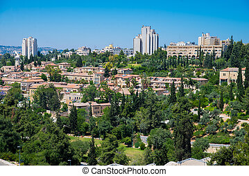 Jerusalem - residential area in Jerusalem the day